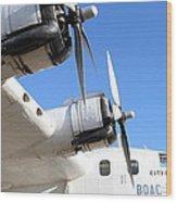 Vintage Boac British Overseas Airways Corporation Speedbird Flying Boat . 7d11265 Wood Print