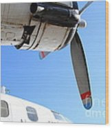 Vintage Boac British Overseas Airways Corporation Speedbird Flying Boat . 7d11270 Wood Print