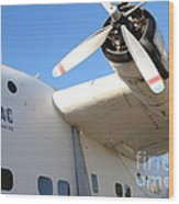 Vintage Boac British Overseas Airways Corporation Speedbird Flying Boat . 7d11279 Wood Print