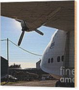 Vintage Boac British Overseas Airways Corporation Speedbird Flying Boat . 7d11287 Wood Print by Wingsdomain Art and Photography