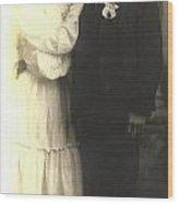 Vintage Bride And Groom Wood Print