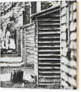 Vintage Cabins Wood Print