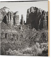Vintage Cathedral Rock Wood Print by John Rizzuto