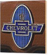 Vintage Chevrolet Emblem Wood Print