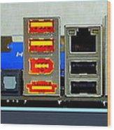 Vintage Circuit Board Connectors Wood Print