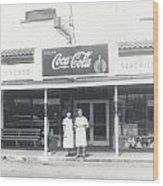 Vintage Coca Cola Store Wood Print