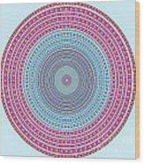 Vintage Color Circle Wood Print by Atiketta Sangasaeng
