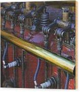 Vintage Combustion Engine Wood Print by Scott Hovind