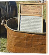 Vintage Copper Wash Tub Wood Print