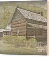 Vintage Davis House Wood Print