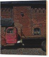 Vintage Distillery Truck Wood Print