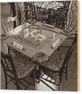 Vintage Domino Table Wood Print