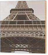 Vintage Eiffel Tower Wood Print