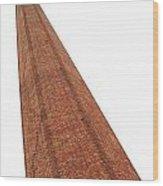 Vintage Factory Chimney Wood Print