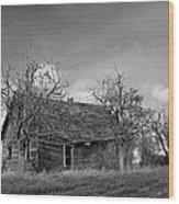 Vintage Farm House Wood Print