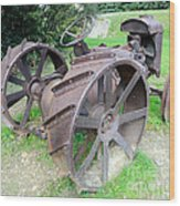 Vintage Farm Tractor Wood Print