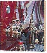 Vintage Fire Truck 1 Wood Print