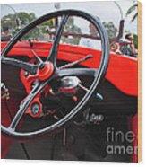 Vintage Ford - Steering Wheel... Controls - Circa 1920s Wood Print by Kaye Menner