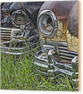 Vintage Frazer Auto Wreck Front Ends Wood Print