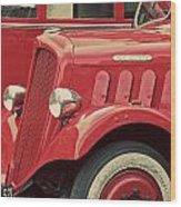 Vintage French Delahaye Fire Truck  Wood Print