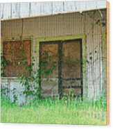 Vintage Gas Station In Springtime  Wood Print