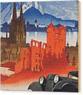 Vintage Germany Travel Poster Wood Print