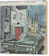 Vintage Gm Pontiac Wood Print