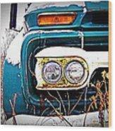 Vintage Gmc Truck Wood Print