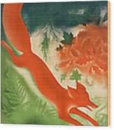 Vintage Hunting In The Ussr Travel Poster Wood Print