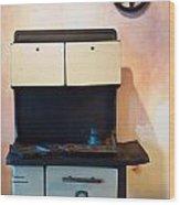 Vintage Kitchen Stove 4 Wood Print