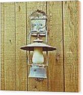 Vintage Lamp Wood Print