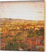 Vintage  Landscape Florence Italy Wood Print