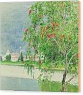 Vintage Landscape Wood Print