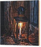 Vintage Lantern In A Barn Wood Print