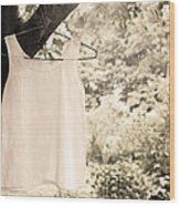 Vintage Linen Cami Wood Print