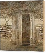 Vintage Looking Old Outhouse In The Great Smokey Mountains Wood Print