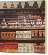 Vintage Mom And Pop Grocery Store - 7d17402 Wood Print