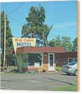 Vintage Motel Wood Print