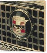 Vintage Nash Auto Grill Wood Print