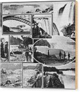 Vintage Niagara Falls Wood Print