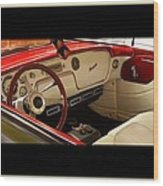 Vintage Packard Interior Wood Print