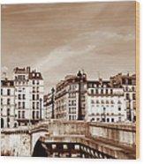 Vintage Paris 8 Wood Print