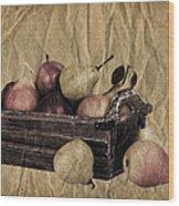 Vintage Pears Wood Print by Jane Rix