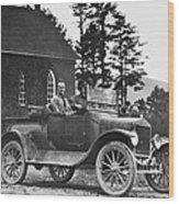 Vintage Photo Of Men In Truck Wood Print