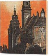Vintage Poland Travel Poster Wood Print