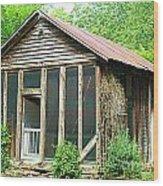 Vintage Pool House Wood Print