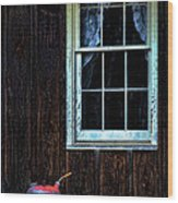 Vintage Porch Window And Gas Can Wood Print