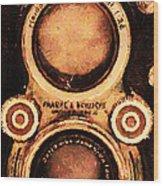 Vintage Rolleiflex Camera . Long Cut . 7d13357 Wood Print