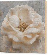 Vintage Rose I Square Wood Print