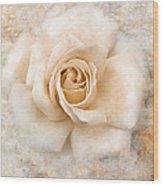 Vintage Rose V Square Wood Print